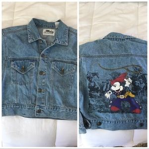 Vintage Disney Mickey cropped Jean jacket