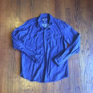 American Rag Size Med Buttoned Down Top