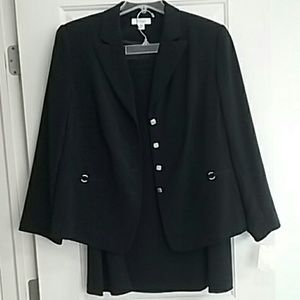 Navy Blue Dress Barn business skirt suit 18w nwt