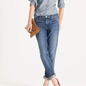 J. Crew Vintage Straight Jeans Boyfriend Jeans Med