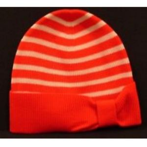 kate spade red and white striped hat