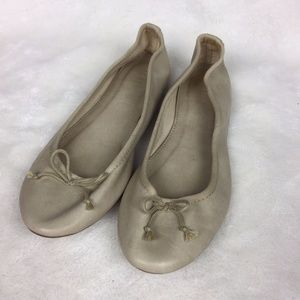 J. Crew Faux Leather Bow Classic Ballet Flats