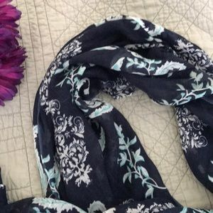 Beautiful blue floral scarf