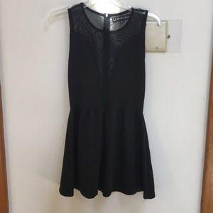 DESIGNER brand FLAL mesh panel dress