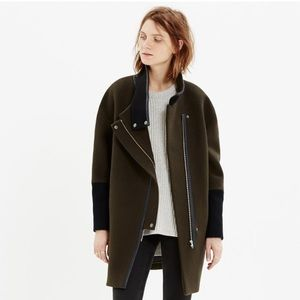 Madewell city grid coat. Never worn!
