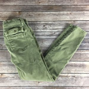 ARMY GREEN CURRENT/ELLIOTT SKINNY JEANS