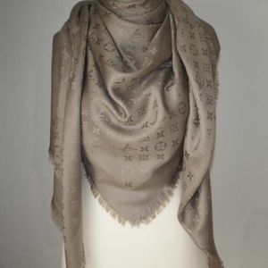 Pashmina Shawl Scarf, Beige color