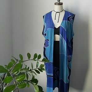 Vintage 80s Abstract Print Duster