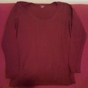 Long sleeve maternity blouse