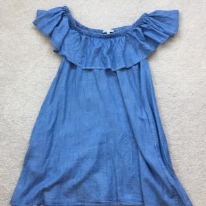 Rebecca Minkoff Off Shoulder Jean Dress
