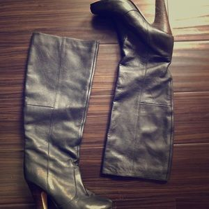 Dolce Vita black leather knee boots