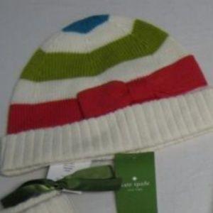 Kate Spade Hudson Stripe Multi Color Wool Knit hat