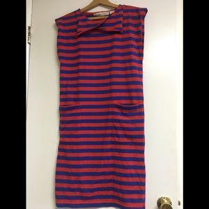 1980s vintage striped dress. Fits sizes XS-Med
