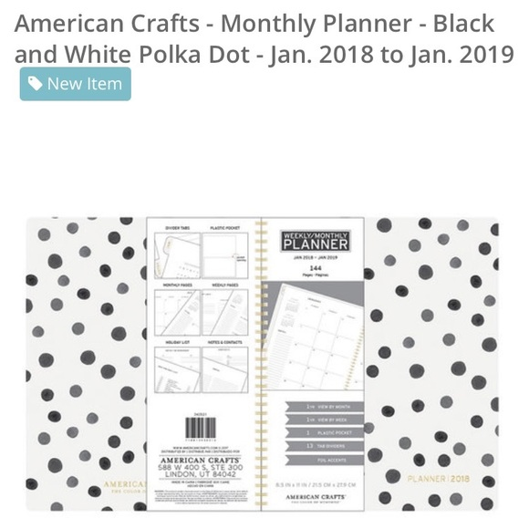 American Crafts Other - 2018 Planner