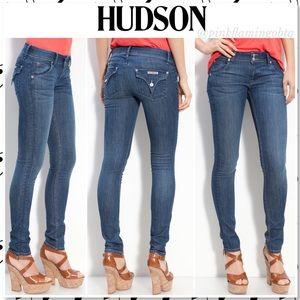 Hudson Collin Flap Pocket Skinny Jeans Azure Wash