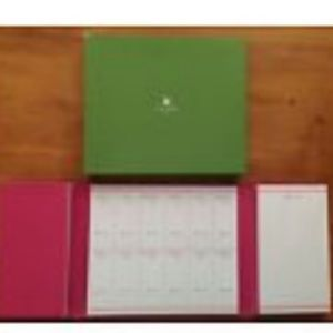 Kate Spade Pink Trifold Calendar (new without box)