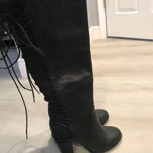 Tall black boots never worn
