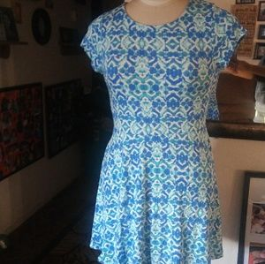 One Clothing Blue and White Short Dress juniors XL