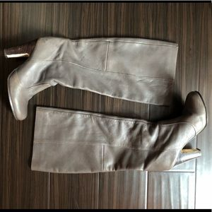 Dolce Vita gray leather knee boots