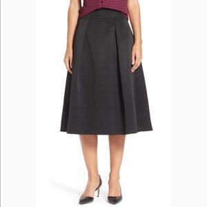 Ivanka Trump Black Flared Midi Skirt