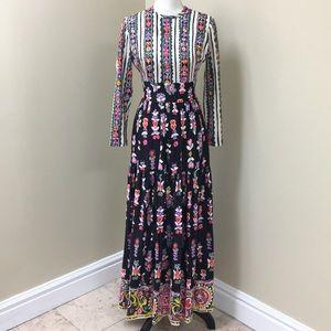 Vintage Peasant-style Maxi Dress