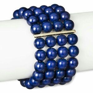 • {SugarFix} Blue Beaded Stretch Cuff
