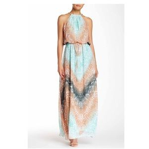 Vince Camuto Multi Colored Sleeveless Maxi Dress