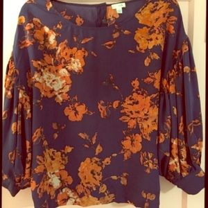 { Anthropologie } Floral Blouse