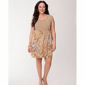 New Lane Bryant Sleeveless Faux Wrap Dress Sz 18