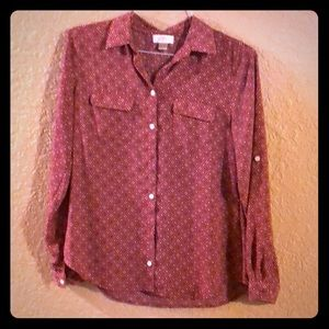 Patterned blouse from Loft