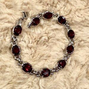 Ruby Sterling Silver Bracelet