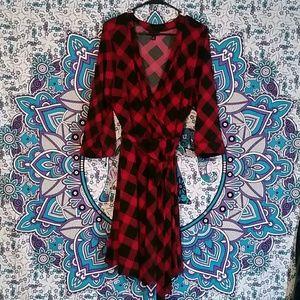 Torrid plaid wrap dress (online exclusive)