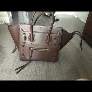 Celine medium phantom brown grained leather