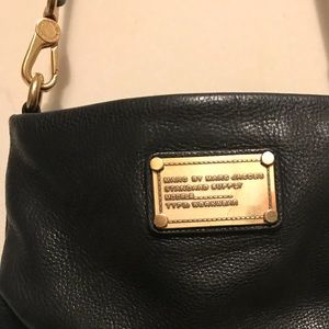 Marc by Marc Jacobs black leather cross body bag
