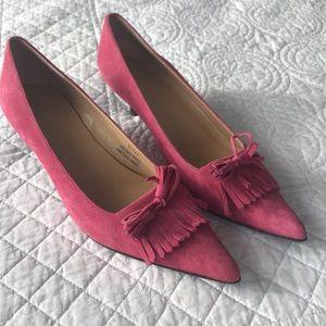 J.Crew Pink Suede Kitten Heels