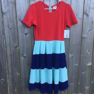 NWT Red & Striped Amelia