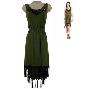 Size Medium▪️ULTRA-SOFT HIGH-LOW FRINGE DRESS