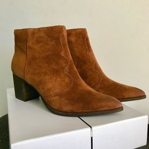 New Dolce Vita Lennon Brown Suede Booties Boots 10