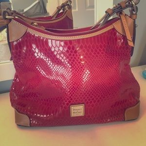 Brand New Dooney & Bourke Red Leather Purse
