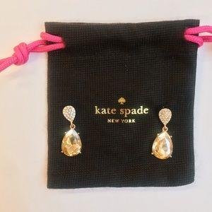 New Kate Spade Pave Dangling Drop Earrings