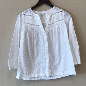 Madewell white button up blouse