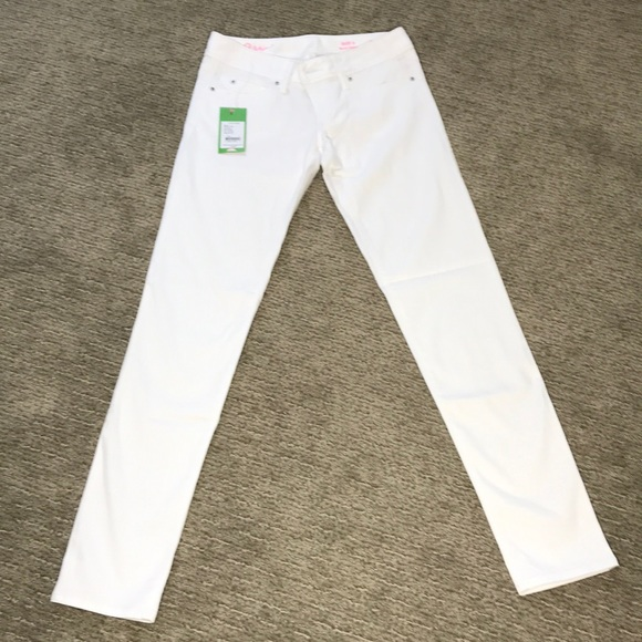 Lilly Pulitzer Denim - Lilly Pulitzer Worth White Skinny Jean Size 0 NWT