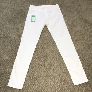 Lilly Pulitzer Jeans - Lilly Pulitzer Worth White Skinny Jean Size 0 NWT