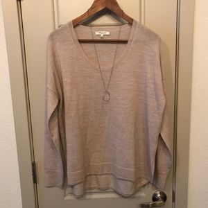 NWOT Cream Madewell Merino Sweater, Medium
