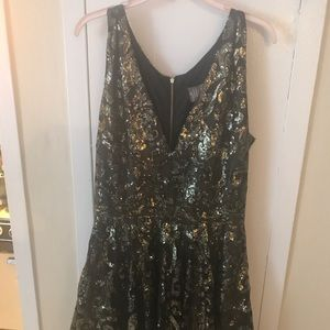 Allison Parris Marilyn Gold & Black Dress