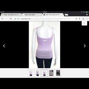 Dolce & Gabbana Lavender Tank BNWT