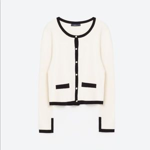 Zara knit cardigan pearl buttons PERFECT small