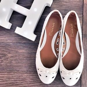 Sperry Top-Sider white flats