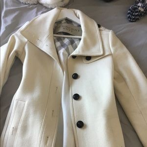Burberry Brit white wool trench