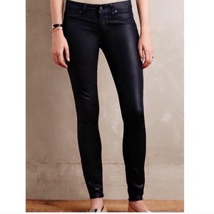Paige Coated Verdugo Ankle Skinny Jeans